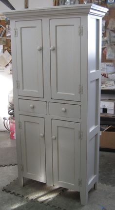louver 2 door storage cabinet bed bath armoire wardrobe in antique