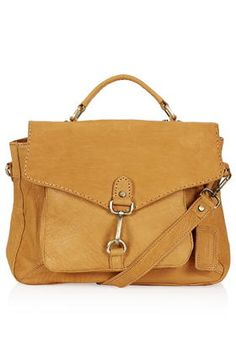 Leather Vintage-Look Satchel