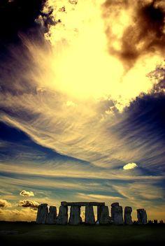 Sunset in Stonehenge, Wiltshire England