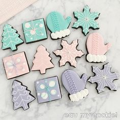 We just thought you might want to impress your guests with these creative Christmas treats instead. Blue Christmas, Christmas Time, Holiday, Christmas Treats, Christmas Baking, Sugar Cookies, Christmas Cookies, Biscuits, Pastel Party