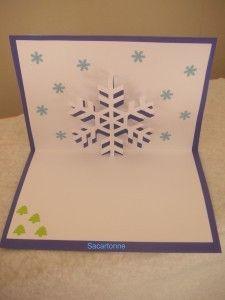 Voici un modèle de flocon de neige ou aussi étoile de Noël pour préparer vos cartes de fin d'année. Un modèle a décliner dans toutes les couleurs!! Facile et rapide à faire vous prendrez grand plaisir à le réaliser!!Ce modèle est à retrouver gratuitement...
