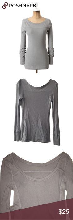 "Saturday Sunday Sz M Anthro Gray Femme Thermal Top Saturday Sunday Sz M Anthro Gray Femme Thermal Top EUC🔸Size Medium🔸Gray🔸Ribbed scoop neck🔸Bust 34-36 has stretch🔸Length 27""🔸Pima cotton, modal, spandex blend material🔸Waffle ribbed texture🔸Slender fitting🔸Pre owned EUC-no rips/stains/holes! Anthropologie Tops Tees - Long Sleeve"