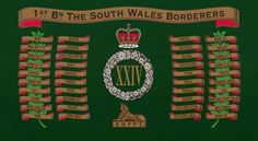 Bn The South Wales Borderers Drums Art, Military Units, British Army, West Indies, South Wales, Army Badges, The Unit, Colours, Commonwealth