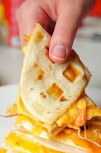 Bean and Cheese Quesadilla | 12 Glorious Things You Should Waffle Right Now