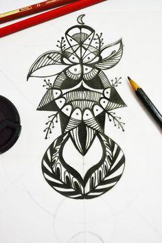 #tattoo #design #mandala #blackandwhite #eweltattoo #sketch