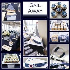 Looking for the newest and best party ideas? Kara's Party Ideas is the place for all things party! Come in and see what is trending in the party world! Sailor Party, Sailor Theme, Nautical Bridal Showers, Nautical Party, Nautical Wedding, Party Box, Party Party, Baby Shower Themes, Baby Boy Shower