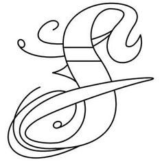 Inked Letter S_image Tattoo Alphabet, Hand Lettering Alphabet, Alphabet Design, Embroidery Letters, Embroidery Fonts, Embroidery Designs, Alphabet Coloring Pages, Printable Coloring Pages, Celtic Alphabet