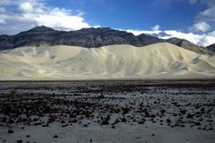 Eureka Dunes are the tallest sand dunes in California, rising nearly 700 feet above the normally dry playa.