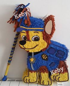 Chase Piñata of the canine patrol or drawing you want, about high. Boys First Birthday Party Ideas, 3rd Birthday Parties, 2nd Birthday, Paw Patrol Birthday Decorations, Paw Patrol Birthday Theme, Paw Patrol Pinata, Toy Cars For Kids, Poncho Knitting Patterns, Bakery Store