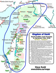 Kingdom of David: Fulfills Abraham's land Promise 997-995 BC: 2 Sam 8-10; 1 Chron 18-20