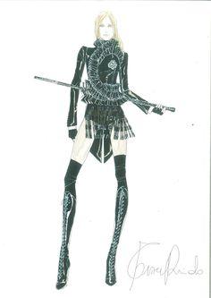 PARIS – Sketch No.1 Givenchy Haute Couture by Riccardo Tisci.