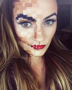 Logra este look con una mezcla de correctores o bases de diferentes tonos.  #Makeup #Halloween