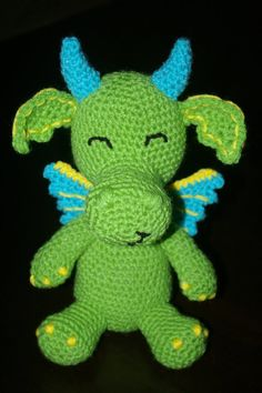 Dante the Dragon  Handmade Crochet Animal by KuddlesAndKritters