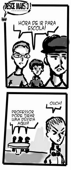 RABISCOS ENQUADRADOS: DESCE MAIS 3! Nº 110: VOLTA AS AULAS!