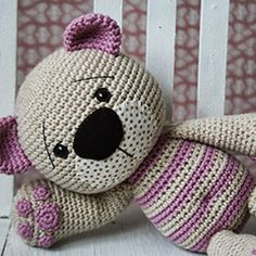 Tummy Teddy amigurumi crochet pattern by lilleliis