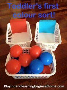 Bola azul e vermelha