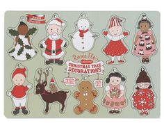 Rosie Flo's colouring Christmas Tree Decorations