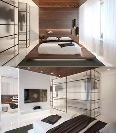 Chambre à coucher aménagée selon Feng Shui