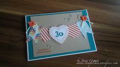 Hearts a flutter Geburtstagskarte