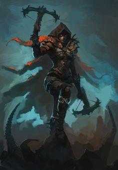 Demon Hunter, Raph Lomotan on ArtStation at https://www.artstation.com/artwork/demon-hunter-184055d5-eb09-4cf5-9e77-2372be03dbcb
