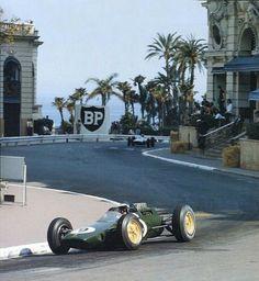 #9 Jim Clark...Team Lotus...Lotus 25...Motor Clímax FWMV V8 1.5...GP Monaco 1963