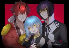 Ciel Anime, Anime One, I Love Anime, Otaku Anime, Anime Guys, Video Game Characters, Anime Characters, Slime Wallpaper, Blue Hair Anime Boy