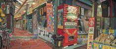 Enjoy The Art of Tekkon Kinkreet in gallery of Concept Art & Background Art made for the movie. Tekkonkinkreet is a three-volume seinen manga series by Background Drawing, Animation Background, Background Patterns, Claude Monet, Art Environnemental, Film D'animation, Visual Development, Environment Design, Environmental Art