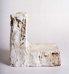 Cy Twombly Untitled, Bassono in Teverina / 1980 plaster and sand / 14 1/8 x 14 x 10 5/8""