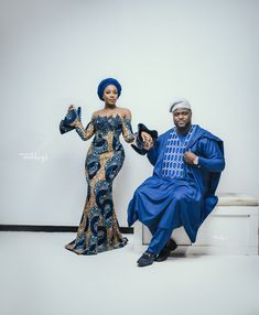 We bet you want to see Adewale Adeleke and bride, Kani's fun styled pre-wedding shoot by Bedge Pictures African Maxi Dresses, African Fashion Ankara, Ankara Dress, African Wear, African Attire, Ankara Gowns, African Outfits, Couple Outfits, Family Outfits