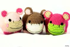 Amigurumi Hippo Plush Toy Set, 3 Safe Baby Toys or Nursery Decorations on Etsy, 364.43 ₪