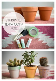 diy painted terra cotta pots - Postcards from Rachel
