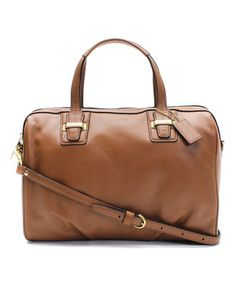 Loving this Coach Saddle Brown Taylor Leather Satchel on #zulily! #zulilyfinds