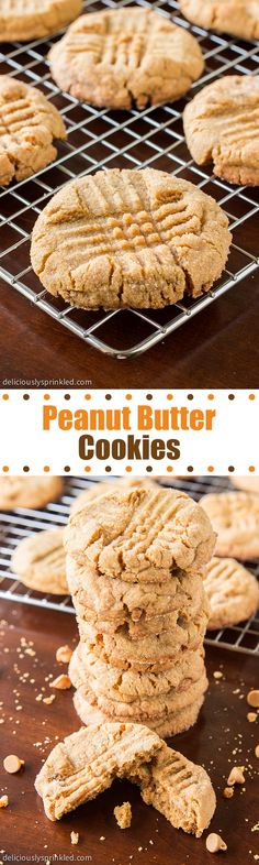 Homemade Peanut Butter Cookies- the only peanut butter cookies recipe you will need!
