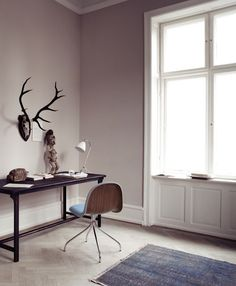 GUBI // Gubi chair and Beslite BL2 table lamp