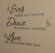 Wall sticker quote