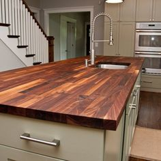 Custom Walnut Butcher Block Countertop