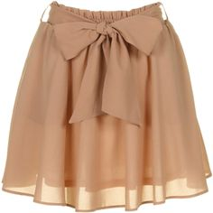 Tan colored bow skirt