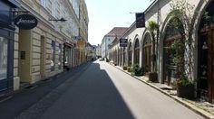View along Bischofstrasse Linz, City
