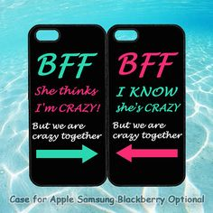 Best Friends BFF in Pairs for iphone 5 case, iphone 4 case, ipod ipod note Samsung Samsung galaxy blackberry Best Friend Cases, Bff Cases, Ipod 4 Cases, Friends Phone Case, Iphone Cases For Girls, Cool Iphone Cases, Diy Phone Case, Cute Phone Cases, Best Friends
