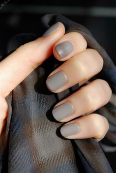 Solid Color Plain #Gray #Nails