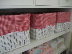 how to make basket liners- maybe I will attempt this again