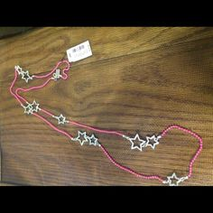 Aeropostale star necklace NWT Aeropostale necklace. Pink color beads with silver color stars. New with tags. No box. Aeropostale Jewelry Necklaces