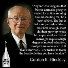 President Gordon B. Hinkley. Prophet, seer and modern day revelator for the Church of Jesus Christ of Latter Day Saints.
