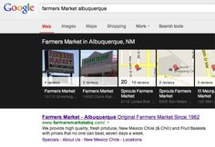 "Great Success story about SEO. Keyword ""Farmers Marker Albuquerque"" brings this company three times to front page. www.farmersmarketabw.com"