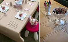 Childrens table our 10 favorite ideas Wedding Table, Diy Wedding, Wedding Day, Cute Wedding Ideas, Wedding With Kids, Grown Up Parties, Wedding Photography Tips, Kid Table, Bbq Party