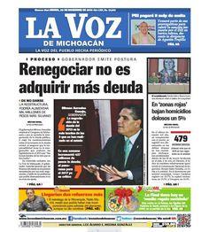 ¡Feliz jueves! ¡Buenos días! Recuerda checar nuestra edición impresa de La Voz de Michoacán de este jueves 22 de diciembre: