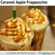 19 amazing Starbucks drinks you didn't know you could order!! Yum yum! Caramel Apple Frappuccino and more