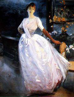 Paul Albert Besnard | Portrait of artist's wife. c. 1886