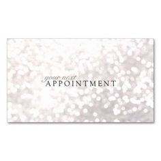 Elegant White Bokeh Appointment Card Business Card