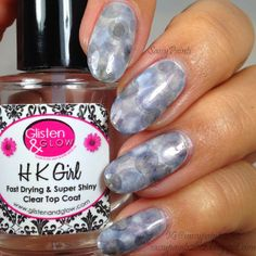 Sassy Paints: Gray Nimbus Nail Art
